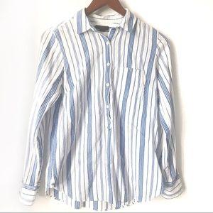 J. Crew Classic Popover Shirt in Striped Gauze 2